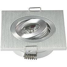 Mini Focos Pequeño focos empotrable ajustable lámpara de techo 3W + DRIVER Blanco Cálido 3000K