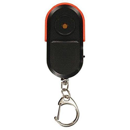 GEZICHTA Tragbare Größe Wireless Anti-Lost Alarm Schlüsselfinder Locator Schlüsselanhänger Whistle Sound LED-Licht, Red Light -