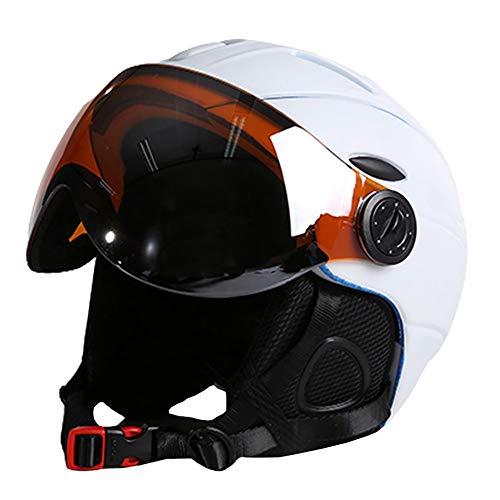 Carmel Ski Helmet - Adult Safety Helmets for Men and Women Protective Ski Hat Guard,White,M Guard White Hat