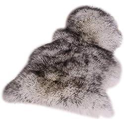 Alfombra Super Area Rugs de piel de oveja australiana natural, de 1 pieza