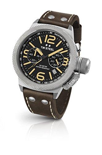 TW Steel Orologio Cronografo Quarzo Unisex con Cinturino in Pelle CS34