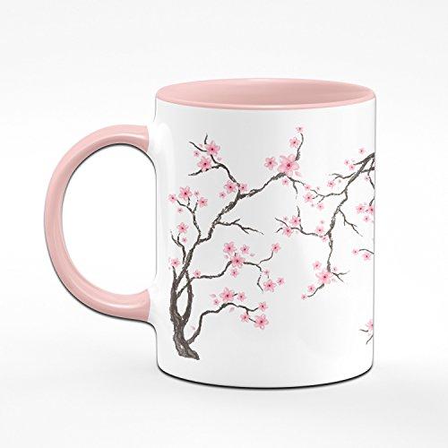 Tasse Cherry Blossom Teetasse - Kaffeetasse in Rosa mit Kirschblüten - 2