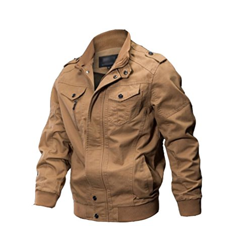 Yuandian uomo primavera autunno casual taglie forti bomber stile militare cargo giacca multi-tasca stand collare giubbotti cappotti cachi 6xl