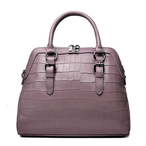 Borsa a mano da donna borsa multicolore vintage in pelle multicolore, borsa a tracolla con tracolla, per lo shopping grande capienza, nero, rosso