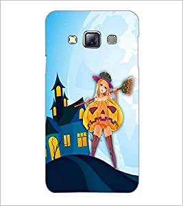 PrintDhaba Girl with Broom D-3288 Back Case Cover for SAMSUNG GALAXY A3 (Multi-Coloured)