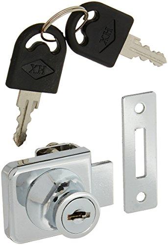 Ersatz Silber Ton Schlüssel Schrank Schloss für 2/12,7cm Glas aufklappbare Tür