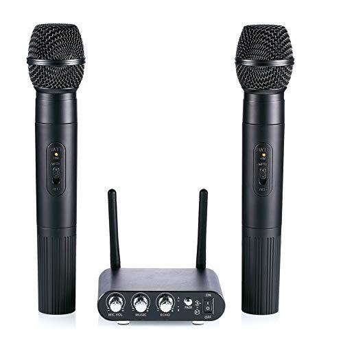 8Eninine Mikrofon Funkmikrofon Für Kinder Familienfreunde Duo Singing Black