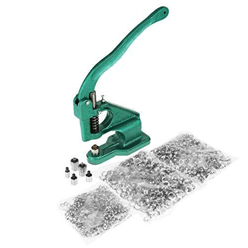 EBTOOLS Ösenpresse, Handpresse Ösenzangen Maschine Tüllenmaschine Ösenmaschine Druckknopfpresse mit 3 stirbt & 1500 stück ösen -