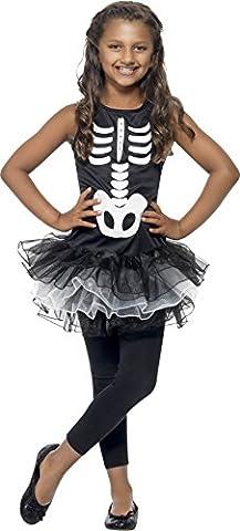 Smiffys Kinder Skelett Kostüm für Mädchen, Bedrucktes Tutu-Kleid, Größe: L, 43029 (Karnevals-kostüm-ideen Für Mädchen)