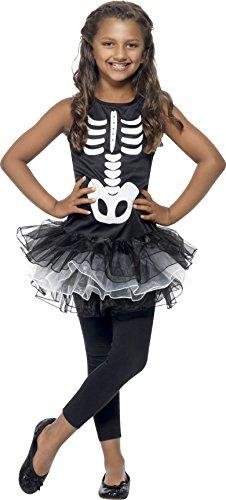 Smiffys Kinder Skelett Kostüm für Mädchen, Bedrucktes Tutu-Kleid, Größe: S, (Mädchen Kostüme Ideen Halloween Für)