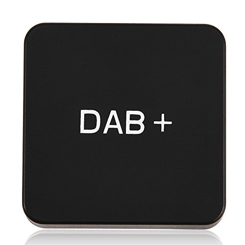 Richer-R Auto DAB+ Digital Radio Adapter, Digital Audio Broadcast DABDAB+ Autoradio Empfänger Adapter,Tragbar Externe DAB+ Digitalradio Box mit Antenne für Android Schwarz