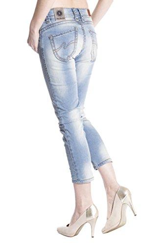Blue Monkey Damen 7/8 Jeans Charlotte 3793 Blau