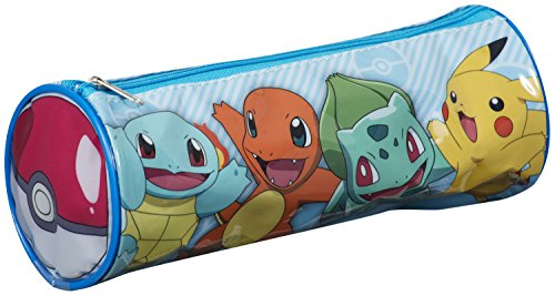 Pokemon Pikachu bauletto astuccio scuola zip Gift Kids Tube bag New