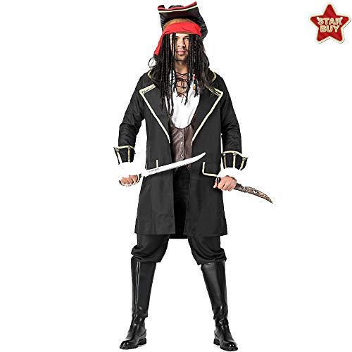 COSOER Jack Captain Cosplay Kostüm Männliche Piraten Performance Bühnenkleidung Für Halloween Kostüme - Eine Beängstigend Halloween Kostüm