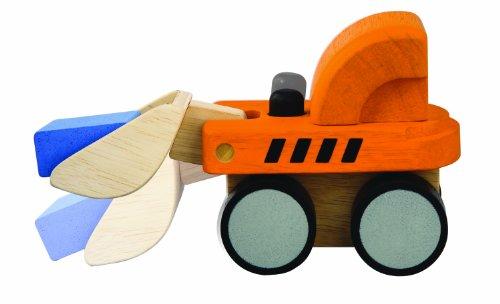 PlanToys - PT6317 - Jouet en bois - Véhicule - Bulldozer