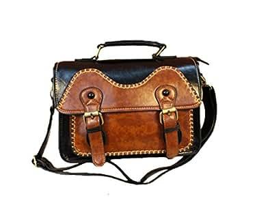 Whoinshop Women's Vintage Messenger Bag Crossbody Satchel Handbags Black