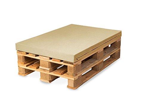 TexDeko Bezug für Palettenpolster, Palettenkissen, Palettenpolsterung (Schaumstoff), Palettenmöbel - In & Outdoor (Polsterhöhe: 10cm, Sand)