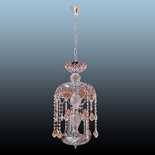 YMXJB Moderne Mode nach Hause Decke Licht Glas Kristall Kronleuchter Schlafzimmer Bar Cafe Wohnzimmer Anhänger Lamp(warm light) -