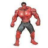 YYZZ Marvel Toys - DC Toys - Avengers 3/4 Action Figure -10 Pollici Red Giant Hulk - Collezione Regalo di Compleanno per Bambini Staccabile Unita (Colore: Rosso)