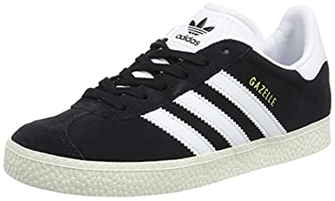 adidas Unisex-Kinder Gazelle Trainer Low, Schwarz (Core Black/Ftwr White/Gold Metallic), 33 EU