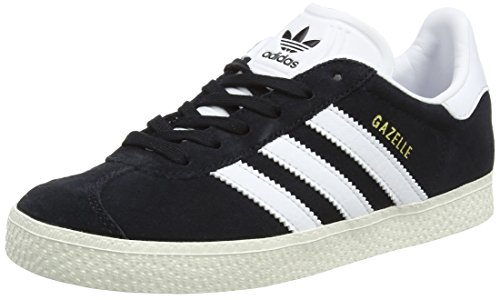 adidas Gazelle C, Baskets Basses Mixte Enfant, Noir (Core Black/FTWR White/Gold Metallic), 28 EU
