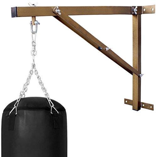 Farabi Boxsack-Wandhalterung Boxsack Wandhalterung Heavy Tasche Wandhalterung Heavy Duty Workout Rahmen Boxing Bag Kleiderbügel Ständer Training Heavy Bag Wandhalterung starrer Wand Unterstützung, Folded-Gold, 2.5-FT