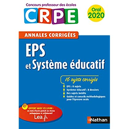 Annales EPS & Système éducatif - Oral 2020