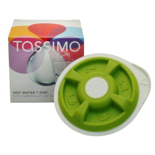 Tassimo Hot Water T-Disc, Heißwasser Tee Aufbereiter, Grün für (150-450ml) Bosch T20 T40 T42 T65 T85