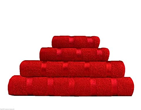 ROHI 6-Piece Luxury Egyptian Cotton Towel Sets (Red)