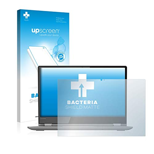 upscreen Antibakterielle Schutzfolie Matt kompatibel mit Lenovo Yoga 530 - Anti-Reflex Bildschirmschutzfolie, Anti-Fingerprint, Anti-Kratzer
