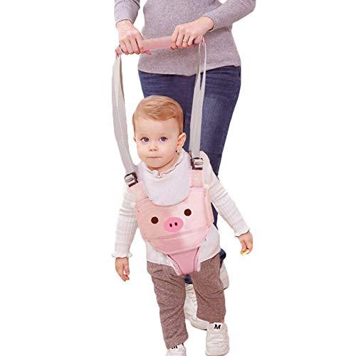 Lauflernhilfe Gehhilfe für Baby Stehen Gehen Lernen Helfer Walker Sicherheitsleinen für Kinder 6-27 Monthe Baby Kleinkind Kind Kinde (Rosa)【Neue Version】