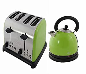 swan lime 1 7 litre traditional kettle and 4 slice toaster. Black Bedroom Furniture Sets. Home Design Ideas
