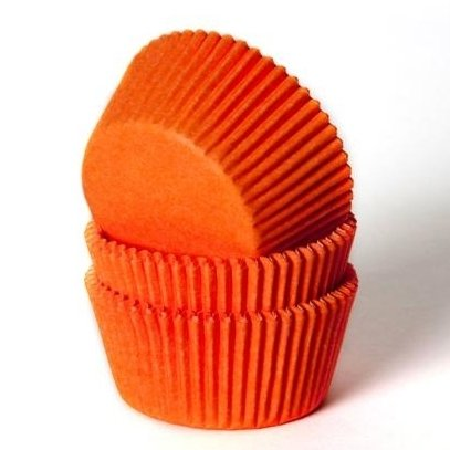 Cakes Supplies - Lot de 50 Caissettes Hom Orange