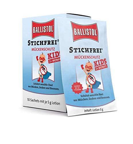 Ballistol Stichfrei Kids Sachet Box à 10 Stück, 26781 (Mückenschutz-lotion Kids)
