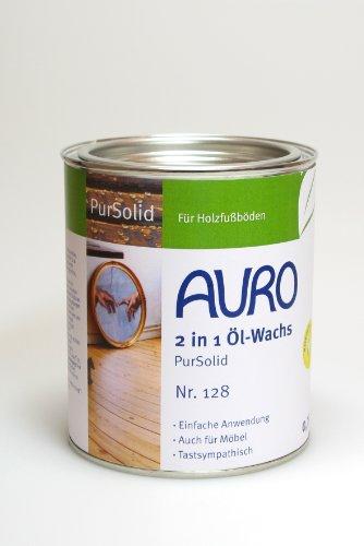 AURO 2 in 1 Öl-Wachs PurSolid Nr. 128 Farblos, 0,75 Liter