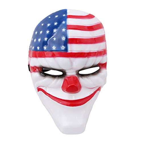 Toporchid Nationalflagge Maske Halloween Ernte Tag Thema Cosplay Party Maske