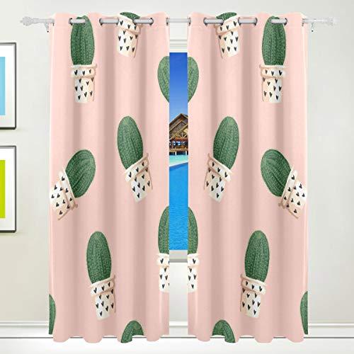 Celestial Home Decor (Ahomy Tropical Plants Celestial Being Polyester Vorhang Verdunkelungsvorhang Home Decor für Terrassenfenster Schiebetür Glas Tür 213,3 x 139,7 cm 2 Panels Set)