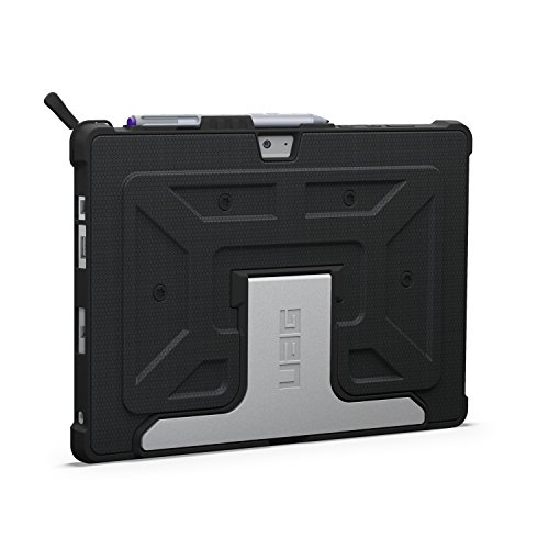 Urban Armor Gear Folio Case für Microsoft Surface 3 - von Microsoft zertifizierte, TypeCover kompatible Schutzhülle mit Pen Halterung [Stoßfest (MIL STD 810G 516.6) | Standfunktion] - schwarz - UAG-SFPRO3-BLK-VP