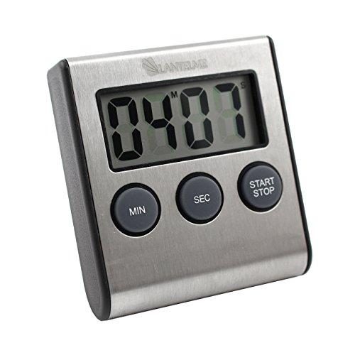 Lantelme Edelstahl Digital Küchentimer . Timer mit Alarm , up und down Funktion , Ständer , Magnet