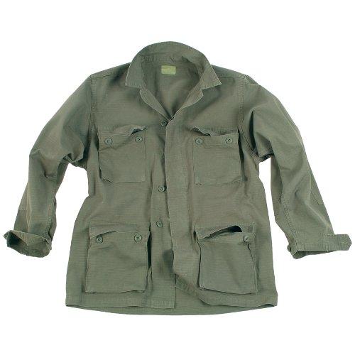 US Feldjacke Typ BDU Ripstop Cotton Prewash oliv S