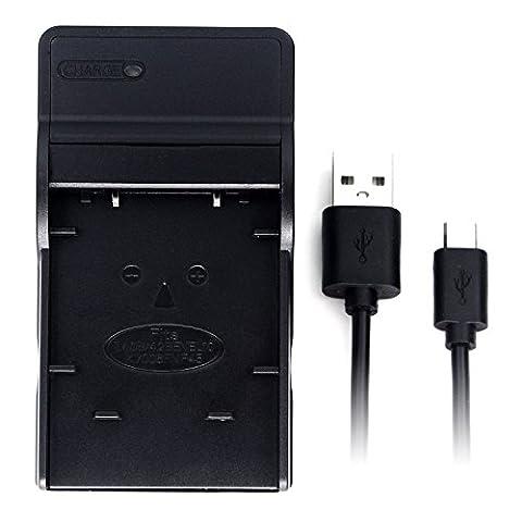 LI-40B USB chargeur pour Olympus D-720, FE-230, FE-340, FE-280, FE-20, Stylus 710, 790SW, 770SW, 7010, 760, 720SW, VR-320, VR-310, X-935, X-905 Caméra et