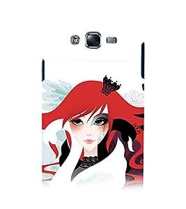 printtech Girl Queen Abstract Back Case Cover for Samsung Galaxy E7 / Samsung Galaxy E7 E700F
