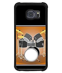 PrintVisa Designer Back Case Cover for Samsung Galaxy S6 Edge+ :: Samsung Galaxy S6 Edge Plus :: Samsung Galaxy S6 Edge+ G928G :: Samsung Galaxy S6 Edge+ G928F G928T G928A G928I (Musical Instrument Drum Fun Entertainment Party)