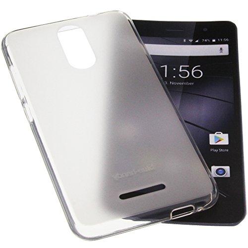 Funda para Gigaset GS160 protectora de goma TPU para móvil transparente blanca