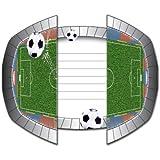 El folato - 8 tarjetas de invitación * estadio de fútbol * para la fiesta y el cumpleaños // Infancia Cumpleaños Niños