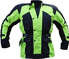 "High Visibility Motorcycle Jacket - Waterproof Thermal Vented & Armoured (50"")"