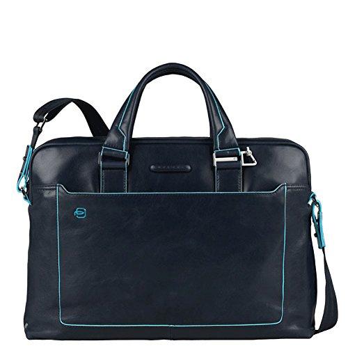 Piquadro Blue Square Collection CA3335B2 - Aktentasche aus italienischem Leder - Dunkelblau