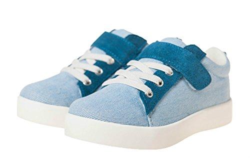 Little blue lamb 7120 baskets, chaussures en toile & cuir bleu Bleu - Bleu