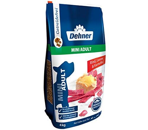 Dehner Premium Hundetrockenfutter Mini Adult, Rind und Lamm mit Kartoffel, 4 kg