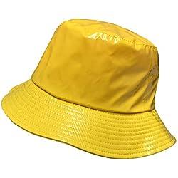 Toutacoo Gorro Para La Lluvia En Vinilo Impermeable Amarillo